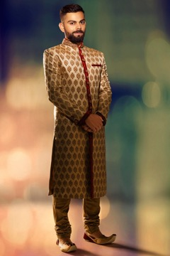virat kohli wearing Angarkha wedding sherwani